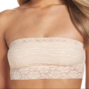 Free People lace bandeau in soft pink color